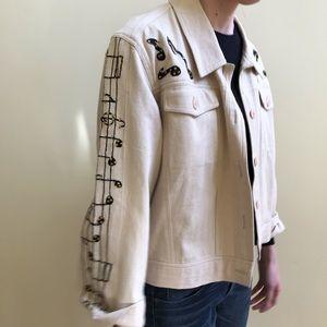 Vintage Music Note Jacket